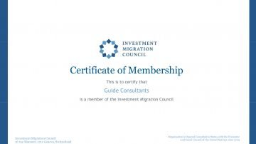 Guide Consultants becomes a member of the Investment Migration Council